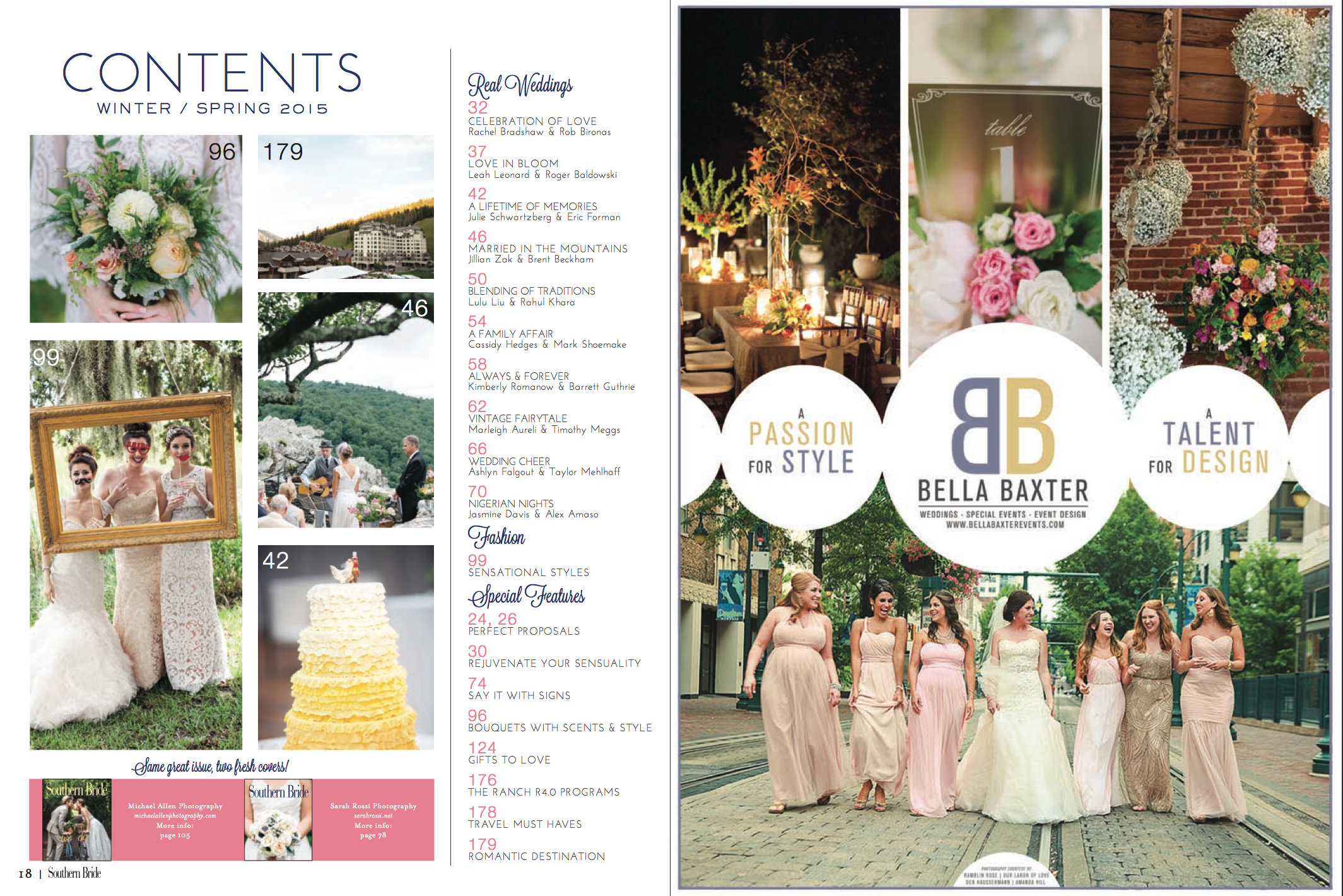 Revival Photography Featured in Southern Bride Magazine 2015 Winter-Spring Issue www.revivalphotography.com