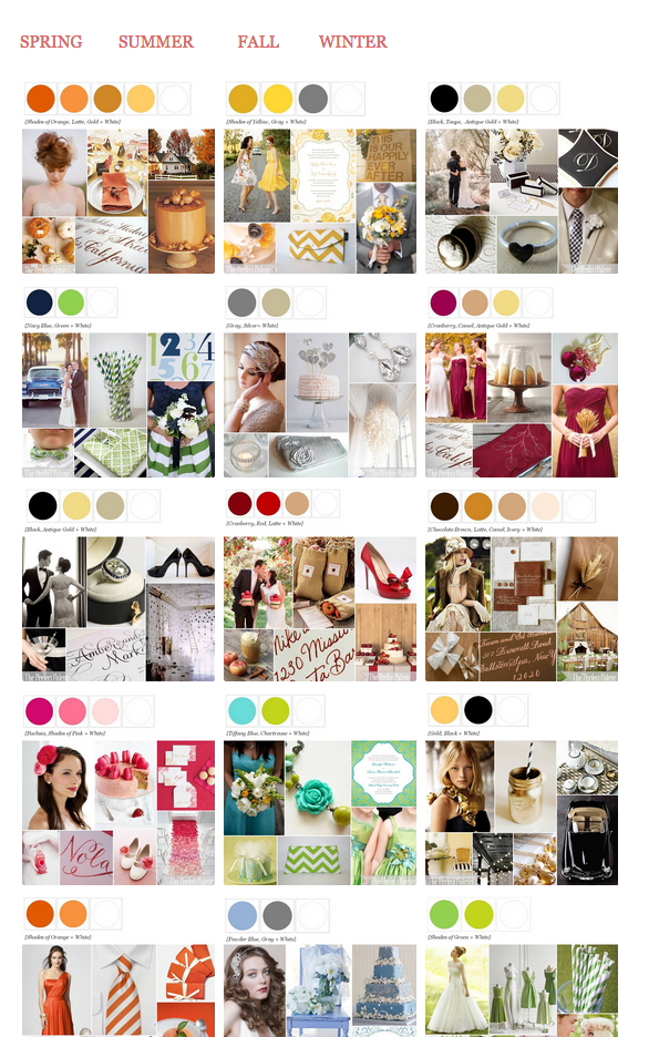 From The Perfect Palette. How to Choose the Perfect Wedding Colors by Revival Photography Wedding Photographers in North Carolina www.revivalphotography.com
