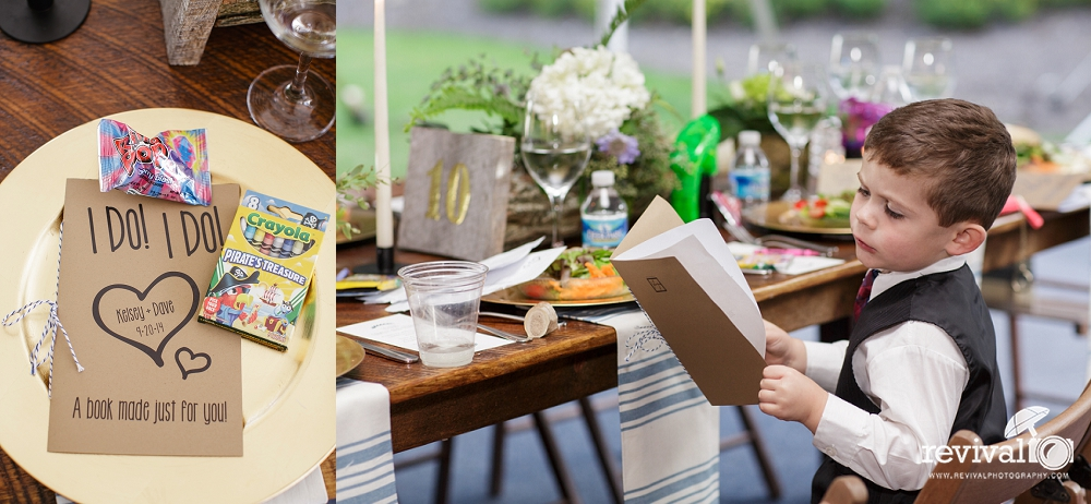 Child's Activity Book/ Reception Coloring Activities. We loved these adorable books our bride made for the children.