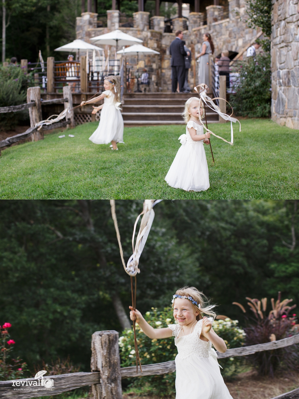 Ribbon Wands. We loved these ribbon wands that our bride made for the guests! Whimsical and perfect for a fairytale wedding. Perfect for a grand exit as well!