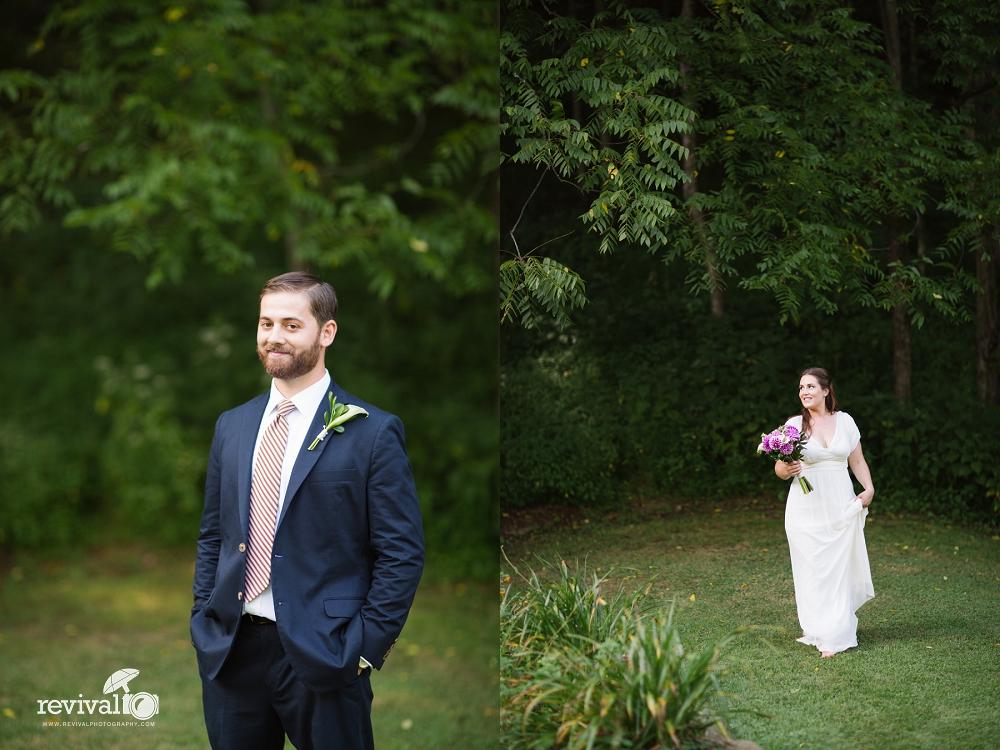 Bride and Groom Eloping at The Mast Farm Inn A Summertime Elopement at The Mast Farm Inn Photos by Revival Photography Elopement Photographers www.revivalphotography.com