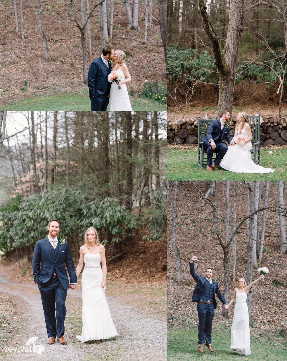 A simple and beautiful Springtime ceremony at the historic Mast Farm Inn in Valle Crucis, NC Vintage Inspired Elopement Photos by Revival Photography www.revivalphotography.com