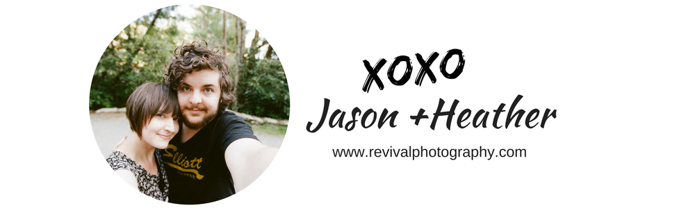 We are Jason and Heather of Revival Photography Husband and Wife Team