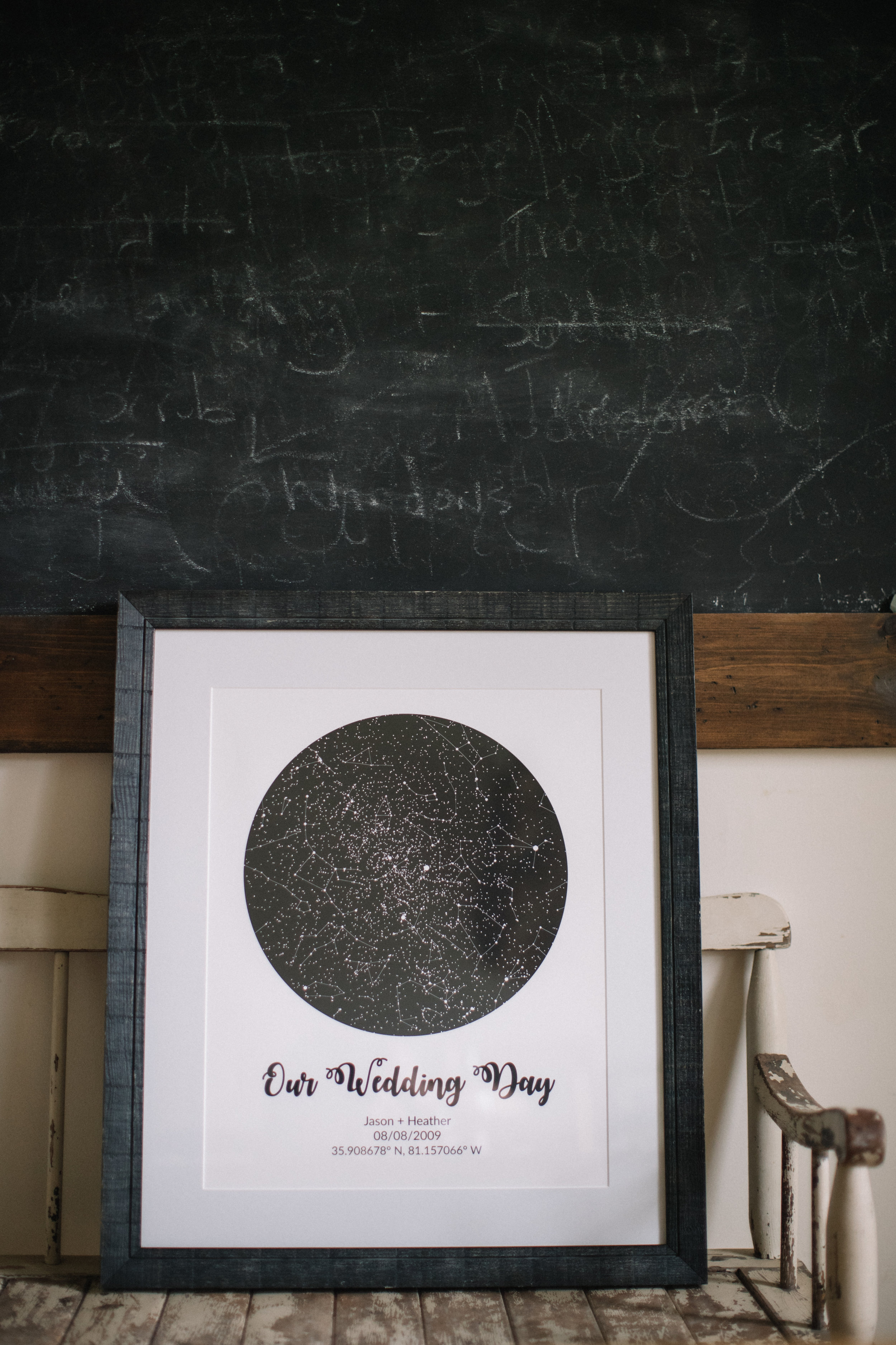 Customized Star Map Photo by Revival Photography