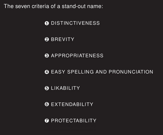 Evaluate your brand name with Marty Neumeier's naming guidelines