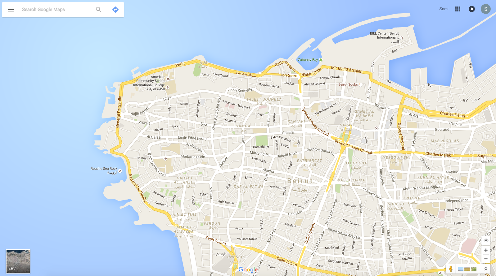 Beirut, Lebanon (Source: Google Maps)