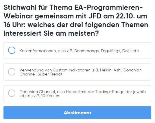 was fuer einen EA moechten Sie sich programmieren lassen