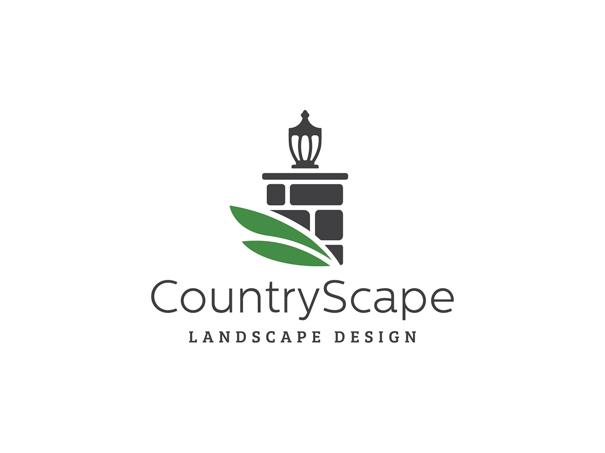 Logo and Branding Package for CountryScape Landscape Design in Shutesbury, MA.