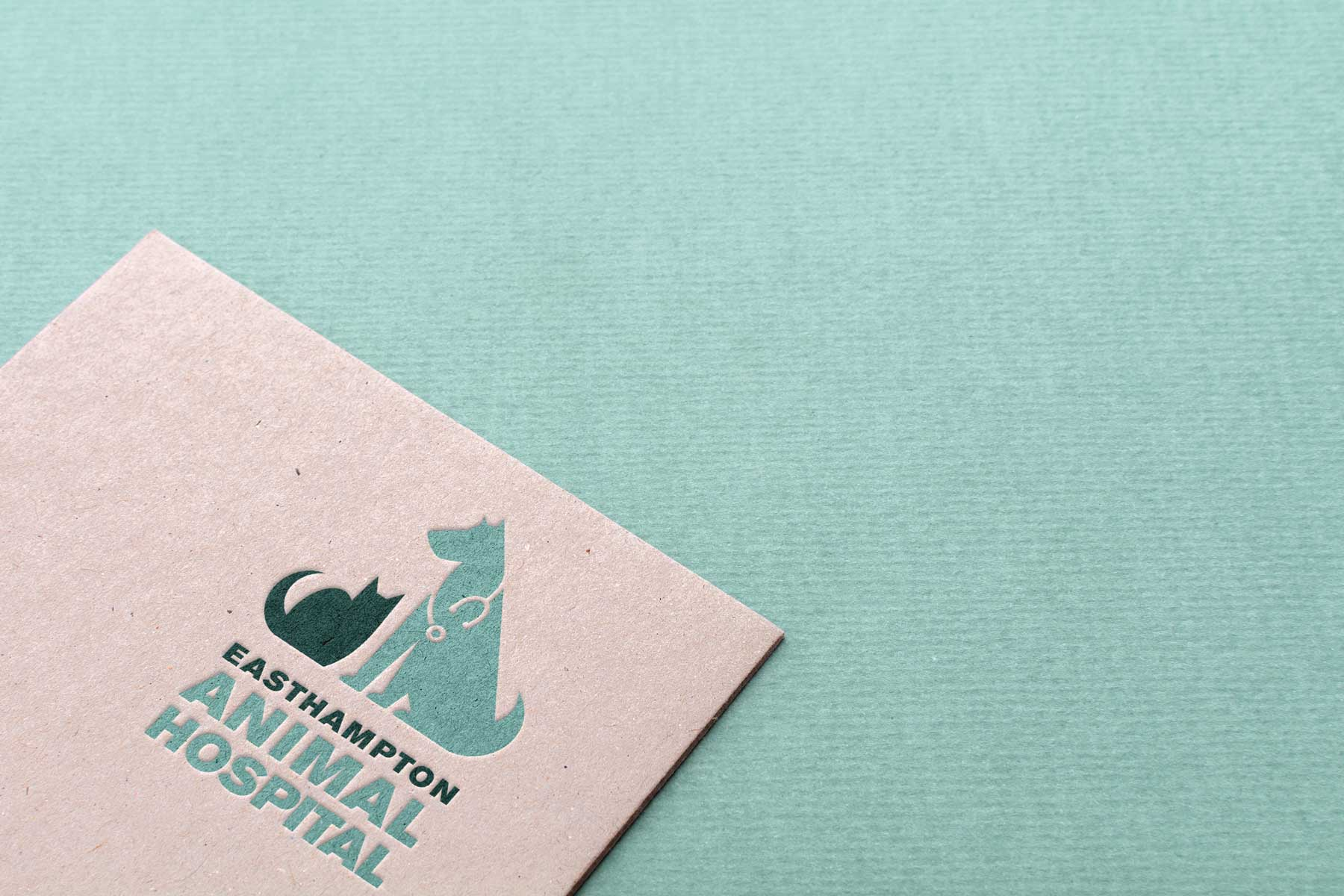 Brand identity for the Easthampton, MA Animal Hospital.