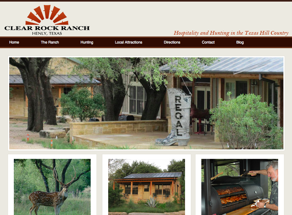 The original ClearRockRanch.com that had served us well since 2010.