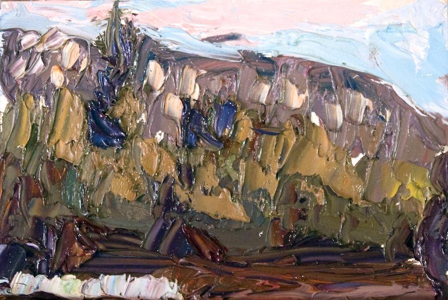 Taos Mountain north - abstract dusk