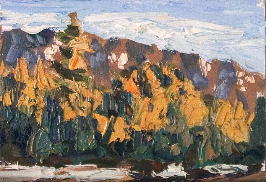 Taos Mountain north - sundown