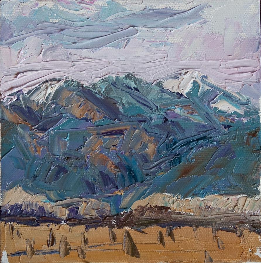 Taos Mountain dusk
