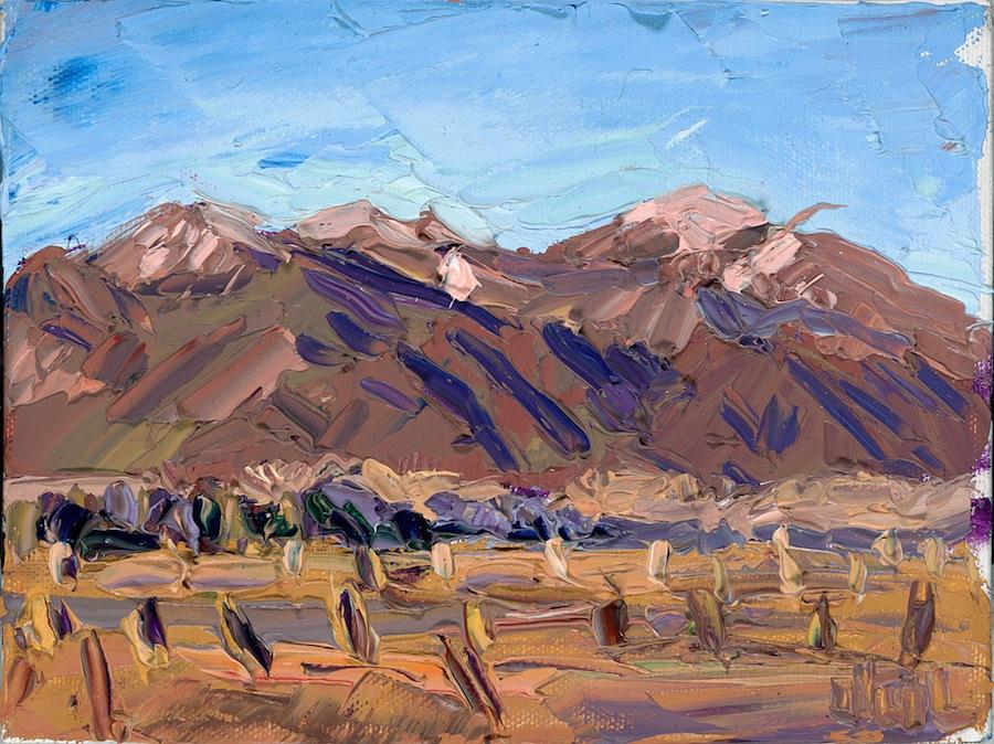 Taos Mountain - winter red