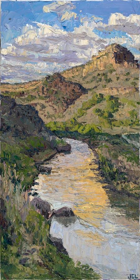 Rio Grande triptych - evening calm