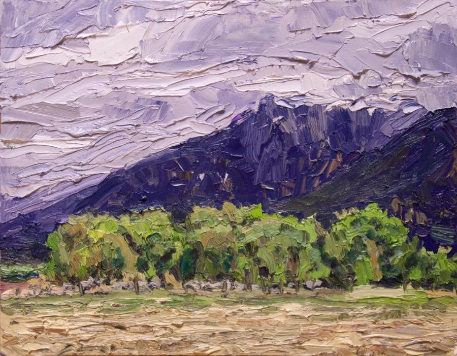 Taos Mountain - cloudy shoulder