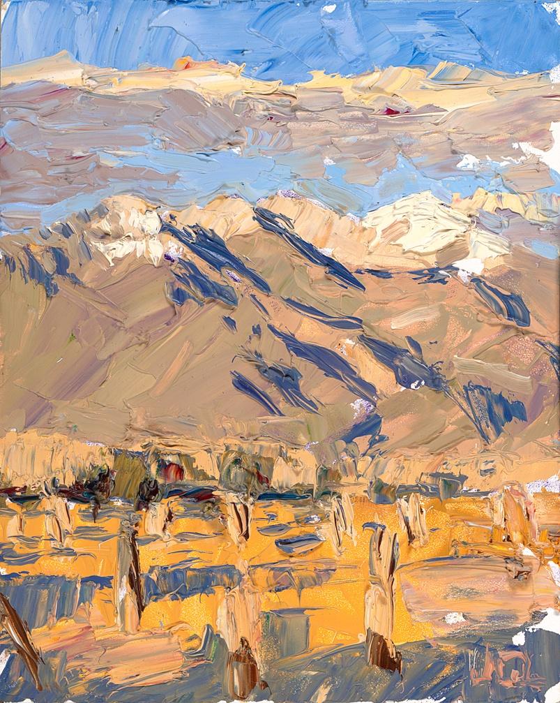 Taos Mountain - winter yellow