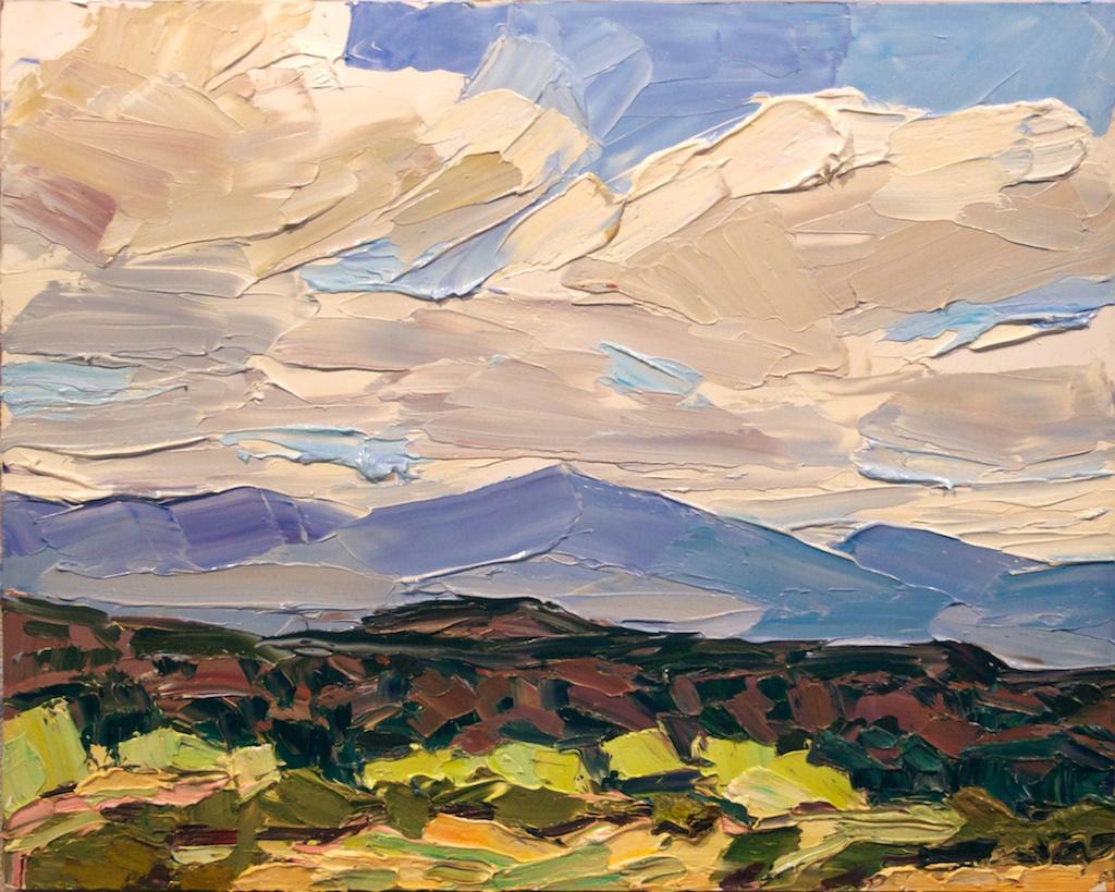 The grove, the ridge, the sky