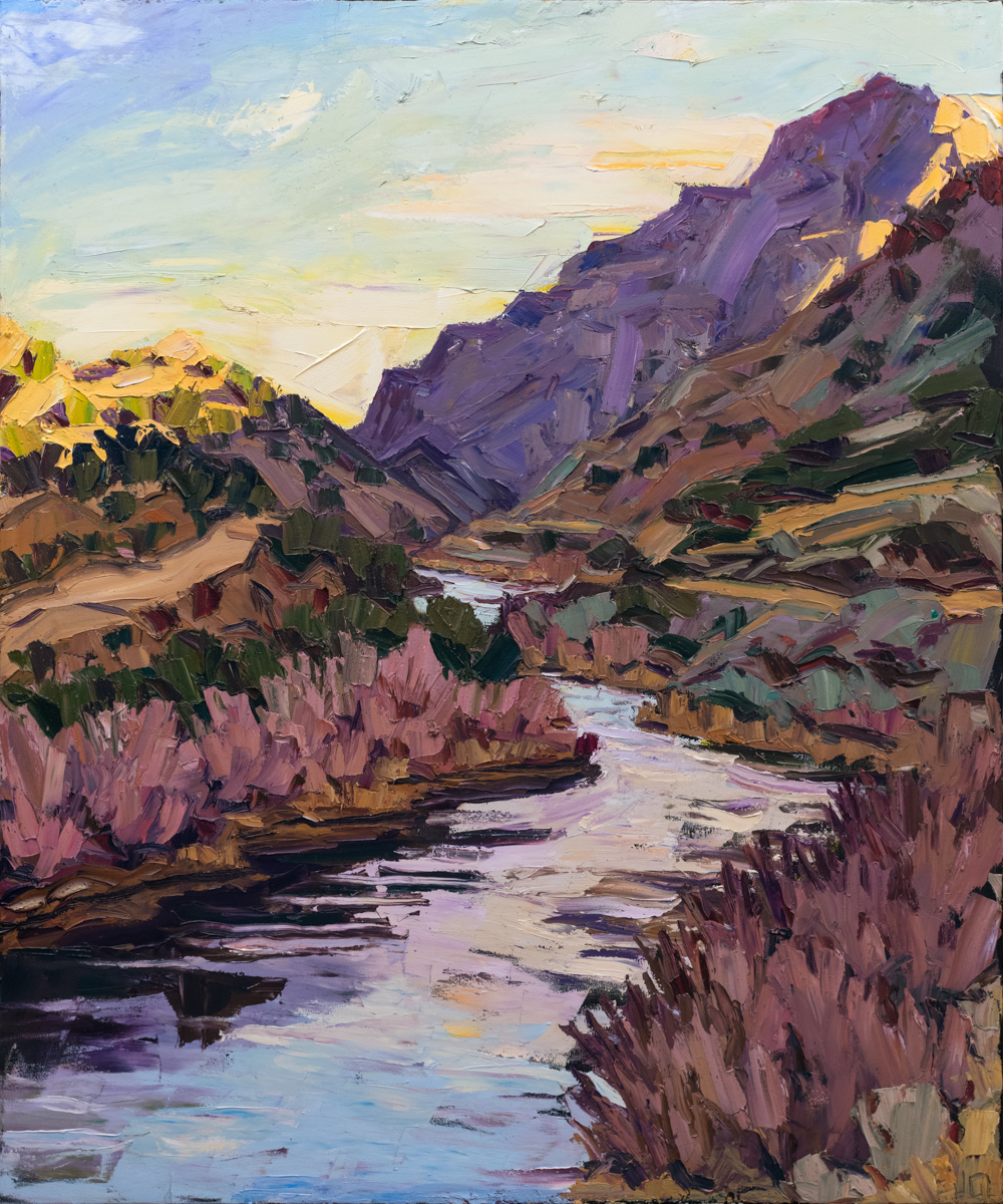 River panel #2 - sunrise