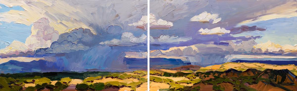 """Visitation, 23"""" x 74"""", oil on canvas, 2016, available through Heinley Fine Arts – (617) 947-9016 or info@heinleyfineartsw.com"""