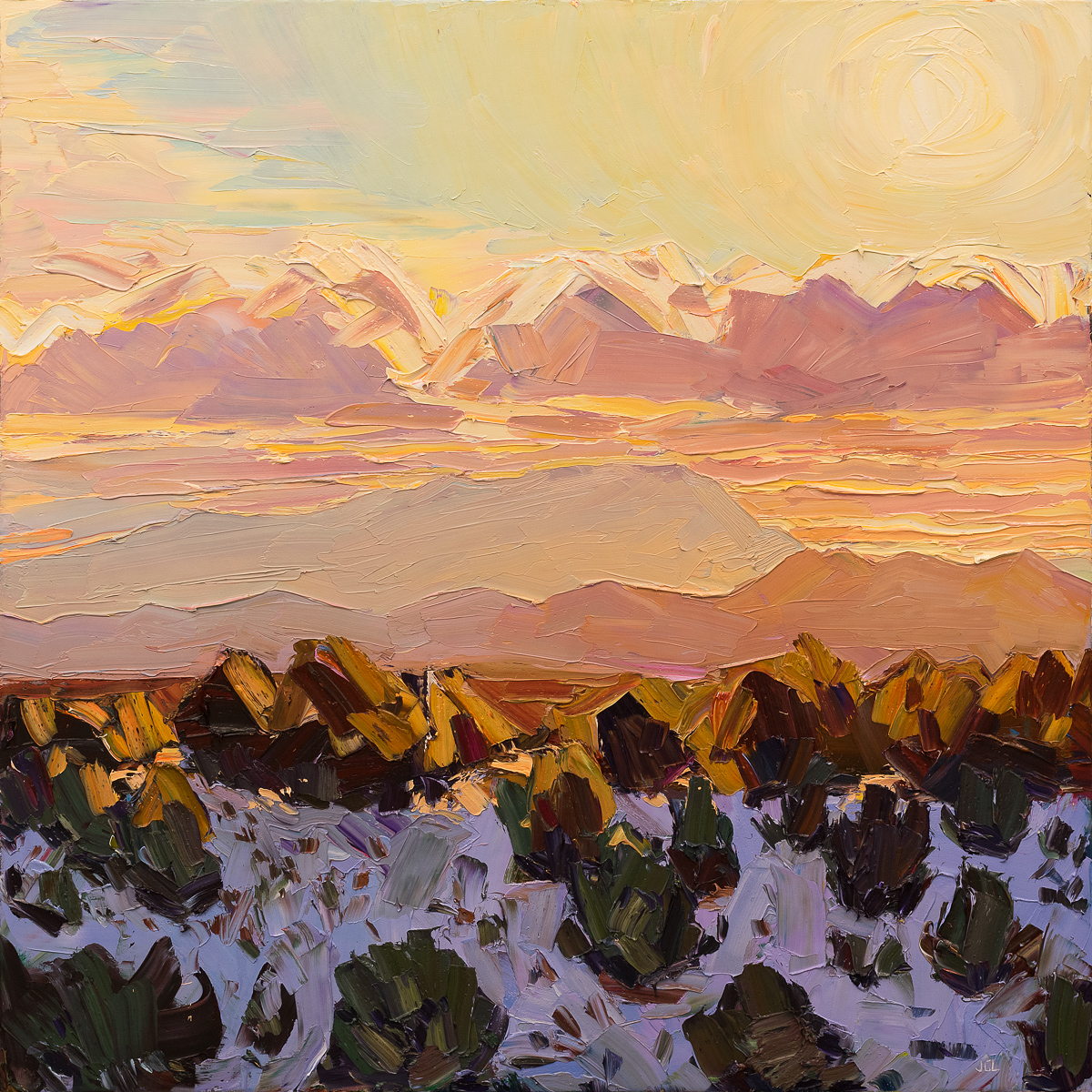 Santa Fe overlook #8 - sunset snow