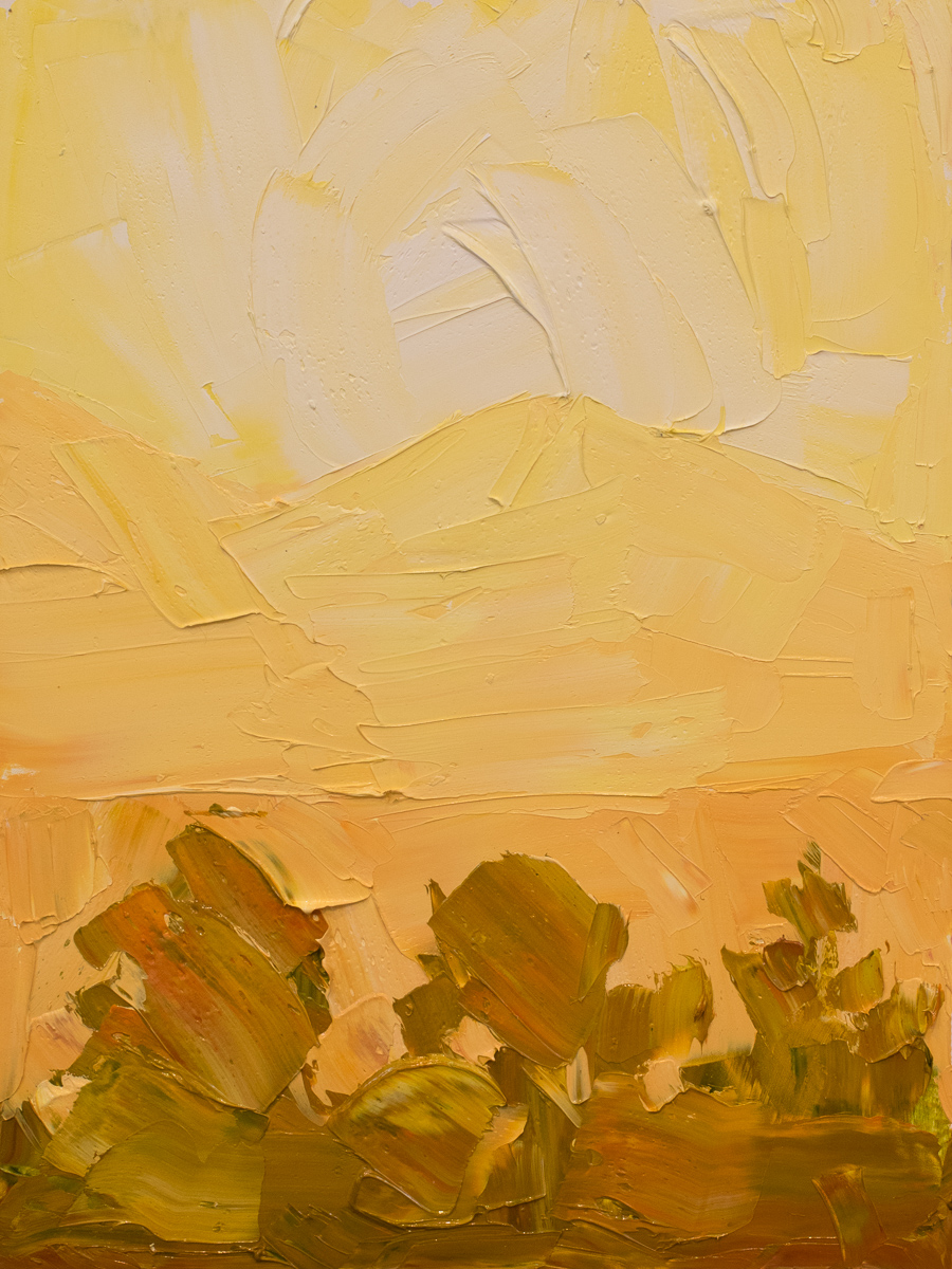 Illuminated ridges 2 - yellow