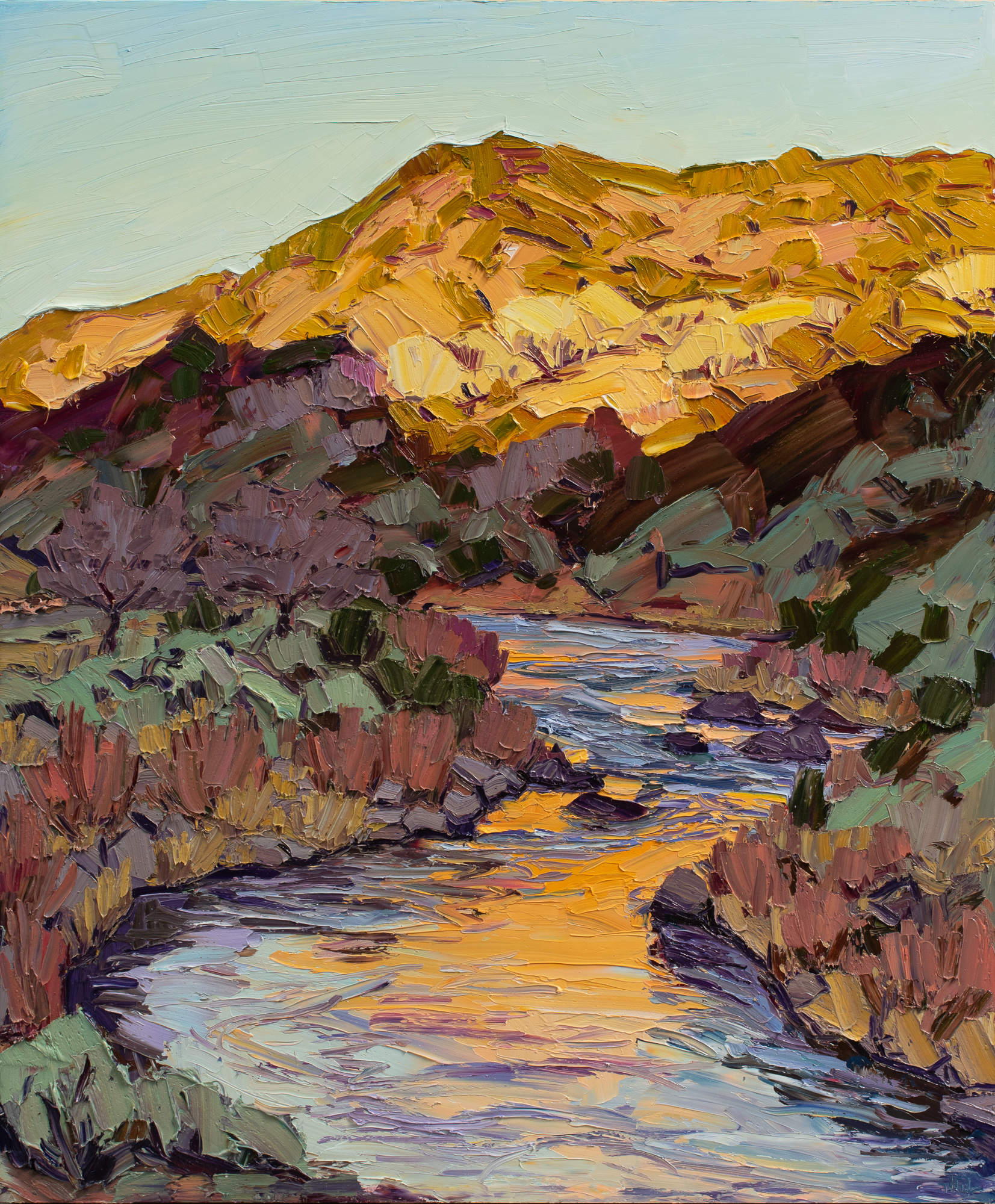 Downstream sunrise