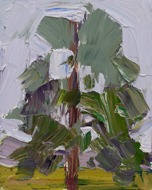 Lone Tree #9 - rain palette study