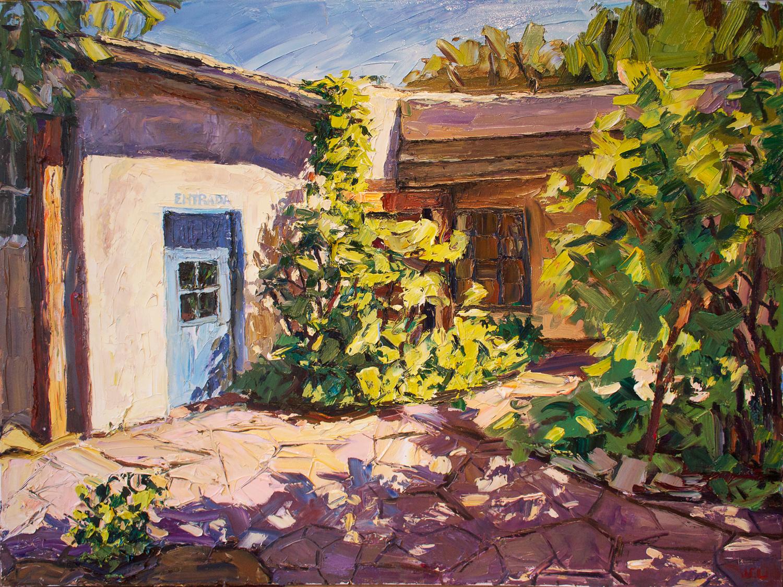 Taos courtyard