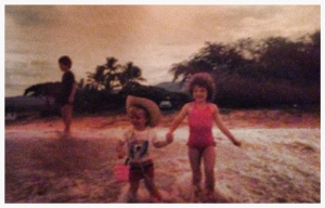Old photograph of me and Will, Hawaii 1985