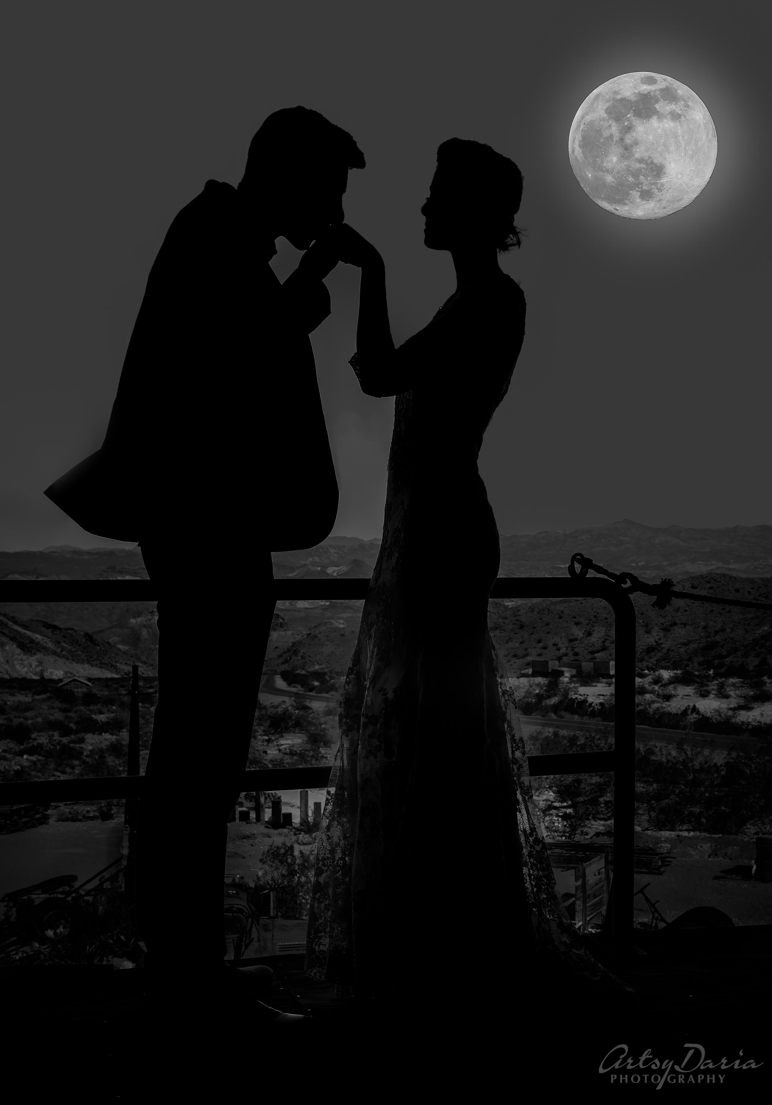 moon light wedding artsydaria