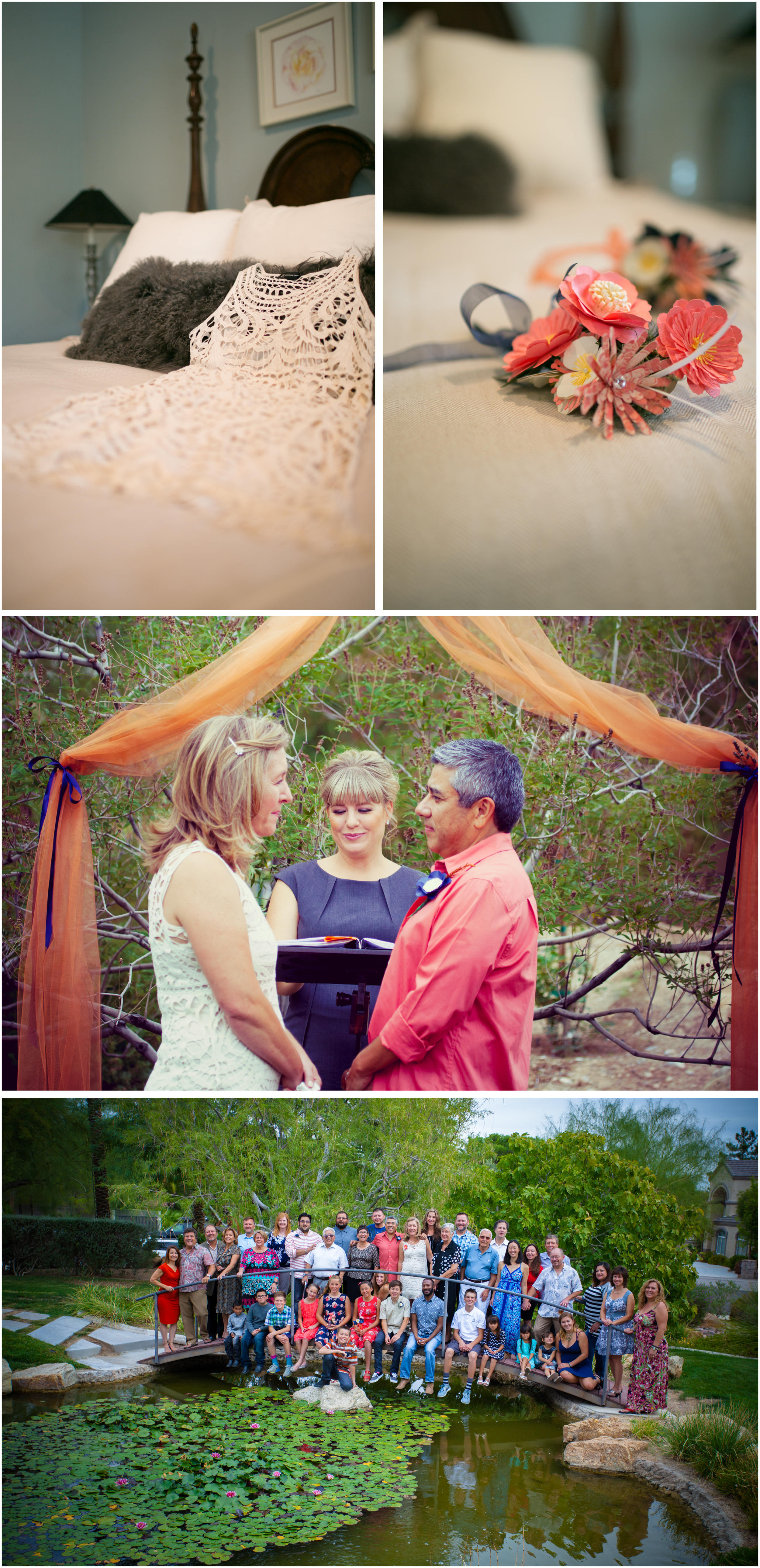 Angie Kelly, the wedding officiant, created and performed a very personalized ceremony. It was touching and elegant, reflecting Pam's and Jerry's individuality.
