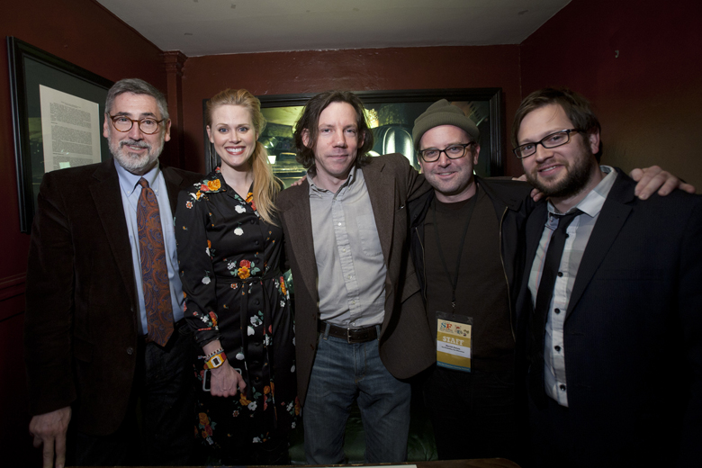 John Landis, Janet Varney, Carl Arnheiter and David Owen. Photo by Tommy Lau.