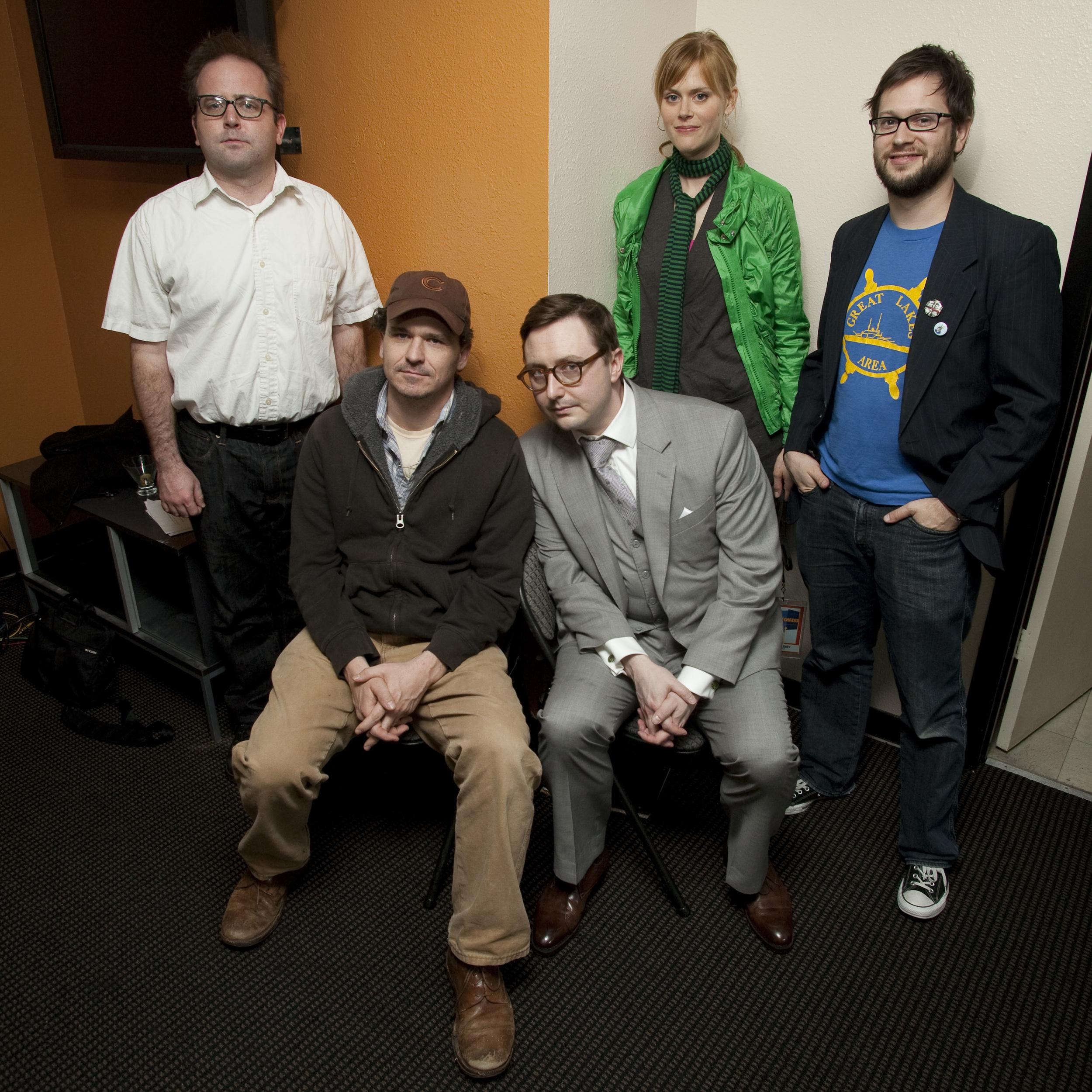 David Owen, Dave Eggers, John Hodgman and Janet Varney. Photo by Jakub Mosur.