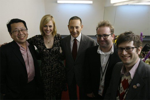 Ben Fong-Torres, Janet Varney, Paul Reubens and David Owen. Photo by Jakub Mosur.