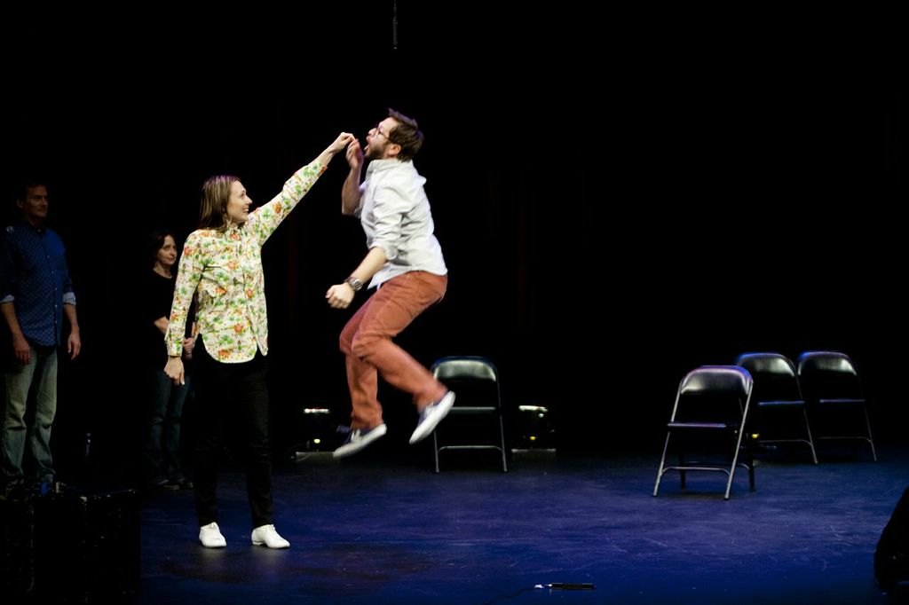 Theme Park with Jessica Makinson and Cole Stratton at SF Sketchfest. Photo by Tommy Lau.