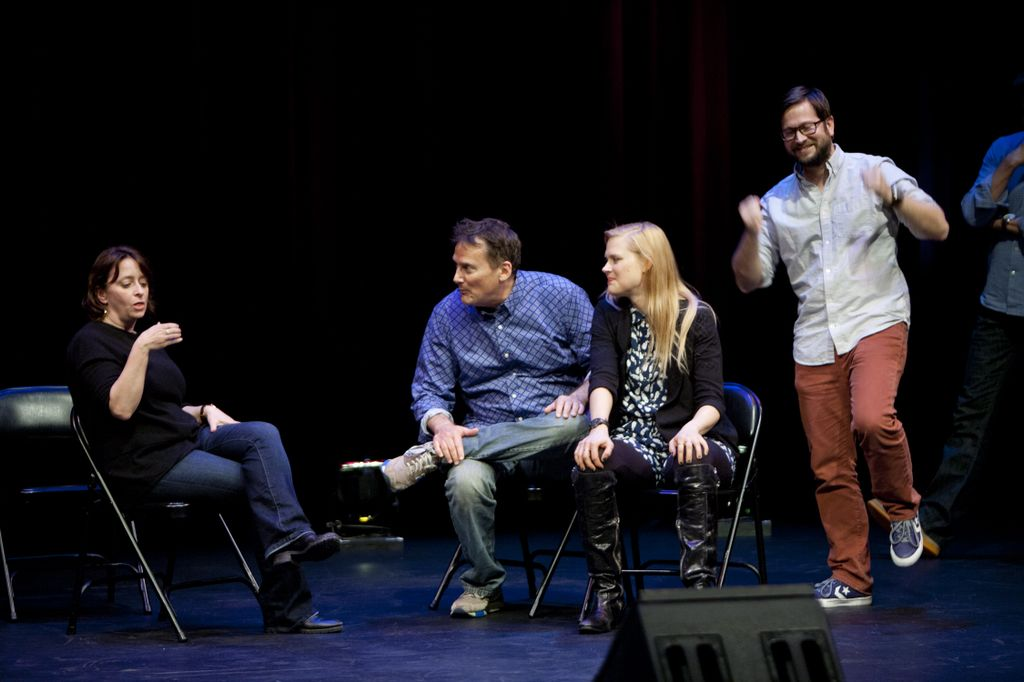 Theme Park with Rachel Dratch, Michael Hitchcock, Janet Varney and Cole Stratton at SF Sketchfest. Photo by Tommy Lau.