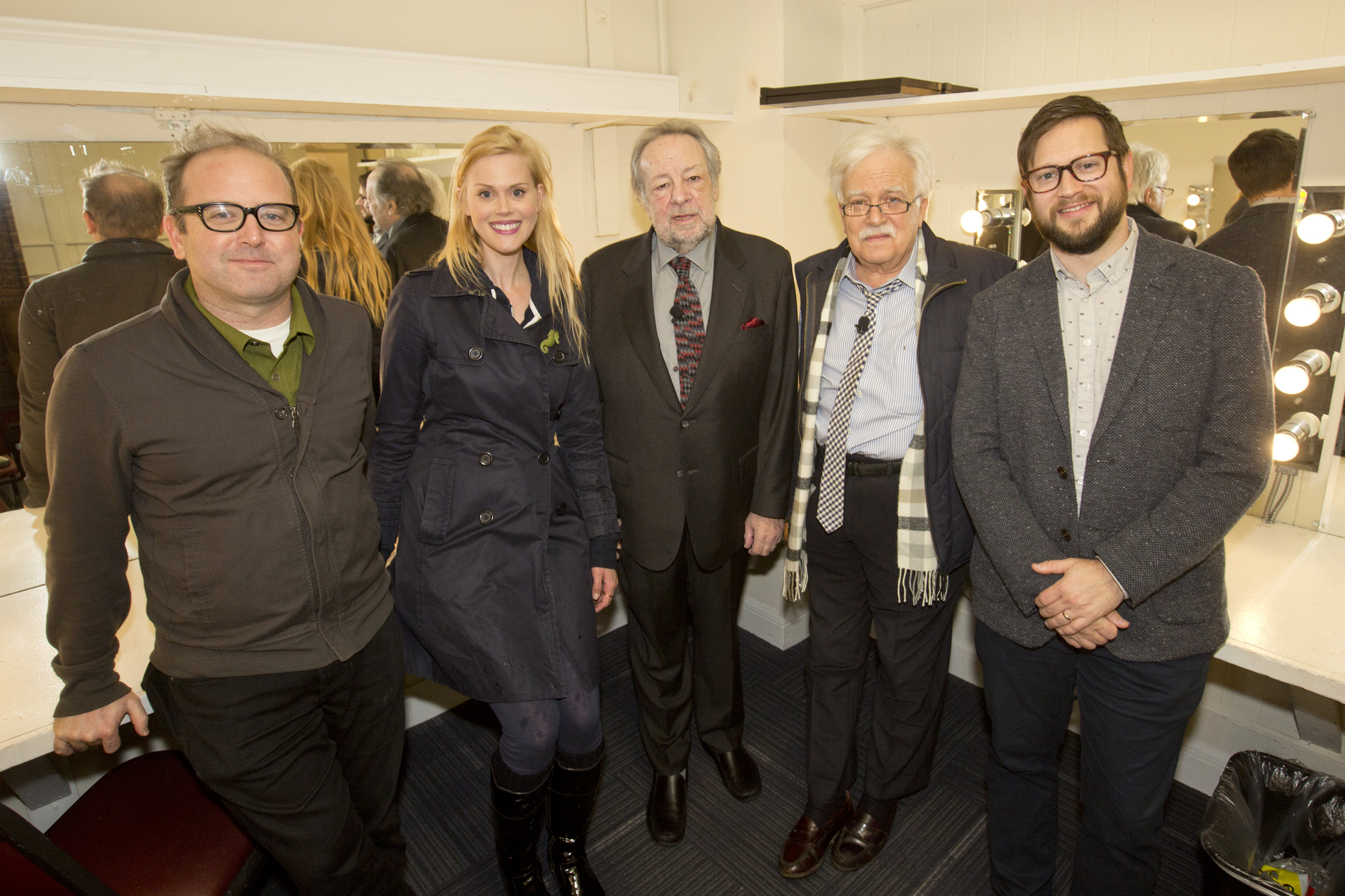 David Owen, Janet Varney, Ricky Jay and Van Dyke Parks. Photo by Jakub Mosur.