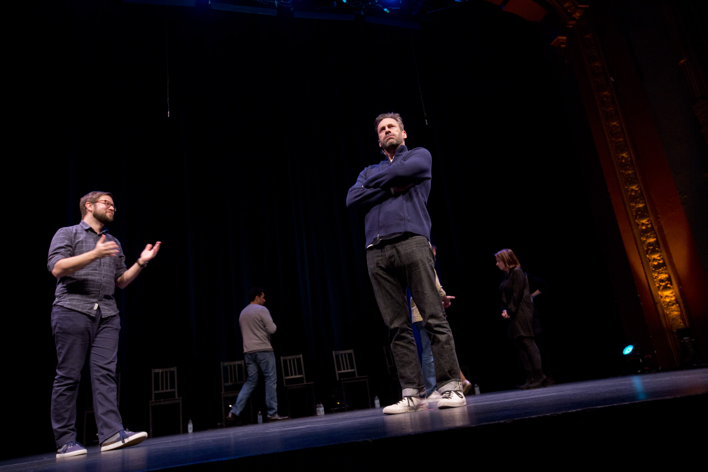 Cole Stratton and Jon Hamm at Theme Park Improv 2017 at SF Sketchfest. Photo by Tommy Lau.