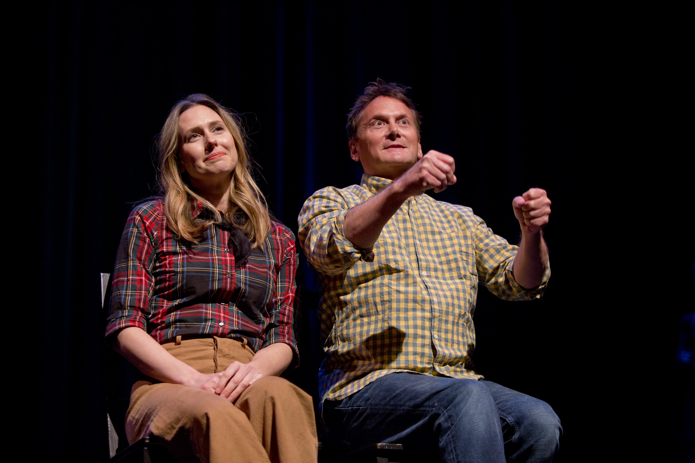 Jessica Makinson and Michael Hitchcock at Theme Park Improv 2017 at SF Sketchfest. Photo by Tommy Lau.