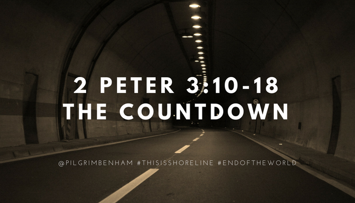 Peter warns the church about the end of the world and how to be diligent in the meantime. Pastor Pilgrim Benham teaches 2 Peter 3:10-18 at Shoreline Church to conclude our study in 2 Peter.