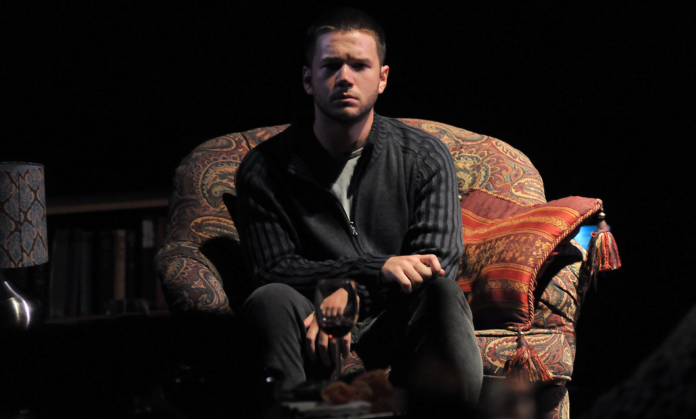 James Caverly as Billy in the SpeakEasy Stage Company production of TRIBES directed by M. Bevin O'Gara. Photo: Craig Bailey / Perspective Photo