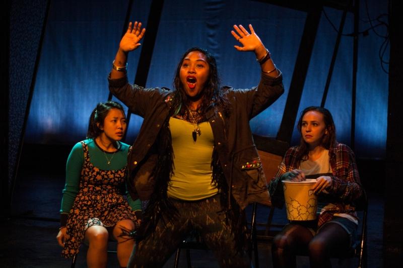 Pearl Shin, Stephanie Recio, and Ally Dawson in  The Chronicles of Kalki .Photo: Paul Fox