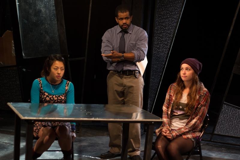 Pearl Shin, Brandon Green, and Stephanie Recio in  The Chronicles of Kalki .Photo: Paul Fox