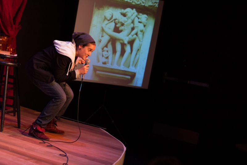 Aila Peck in  Brahman/i: A One Hijra Stand-Up Comedy Show  presented by Company One. Photo: Paul Fox