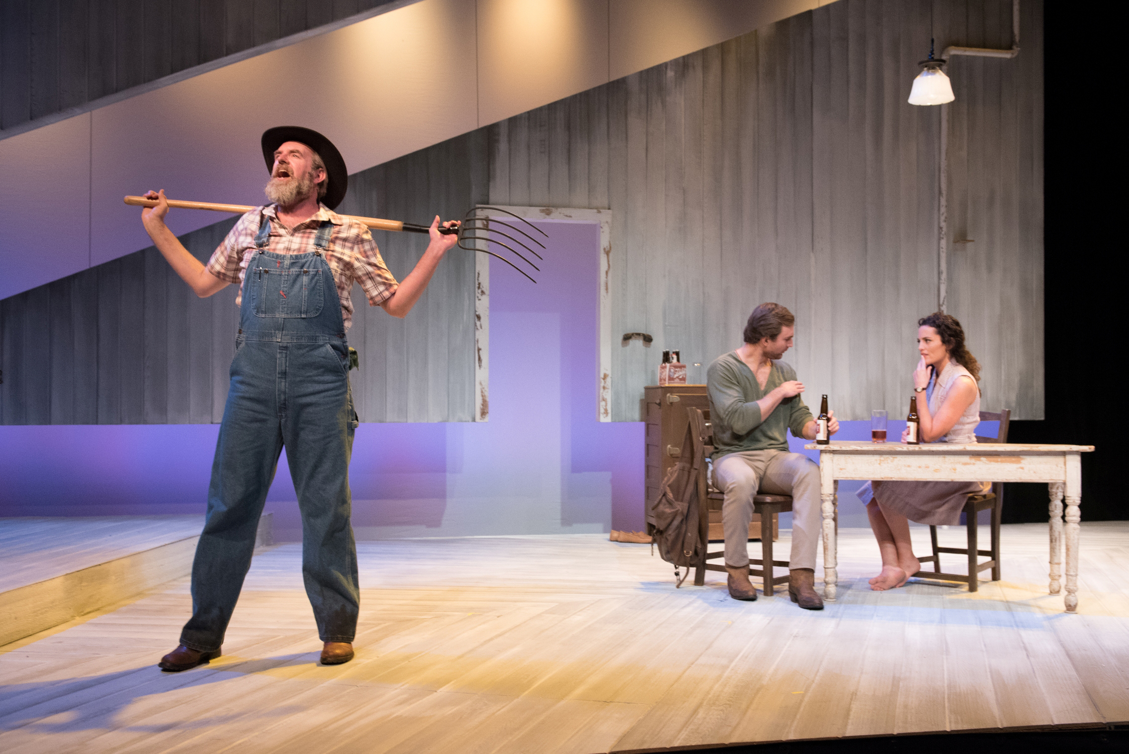 Christopher Chew, Christiaan Smith, and Jennifer Ellis in  The Bridges of Madison County , presented by SpeakEasy Stage Company. Photo: Glenn Perry Photography