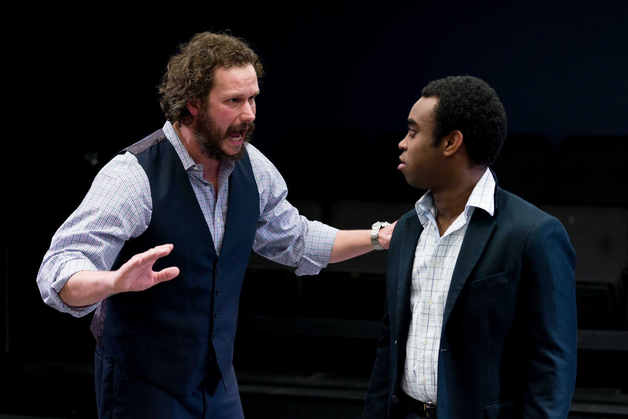 Anthony Goes and Marc Pierre in Walt McGough's  Brawler  at the Kitchen Theatre Company, directed by M. Bevin O'Gara. Photo: Dave Burbank