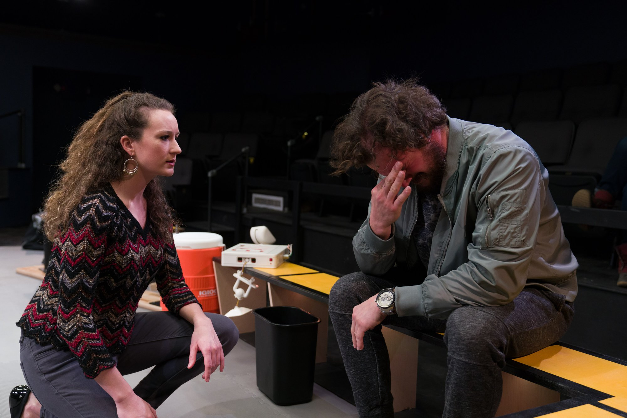 Gigi Watson and Anthony Goes in Walt McGough's  Brawler  at the Kitchen Theatre Company, directed by M. Bevin O'Gara. Photo: Dave Burbank