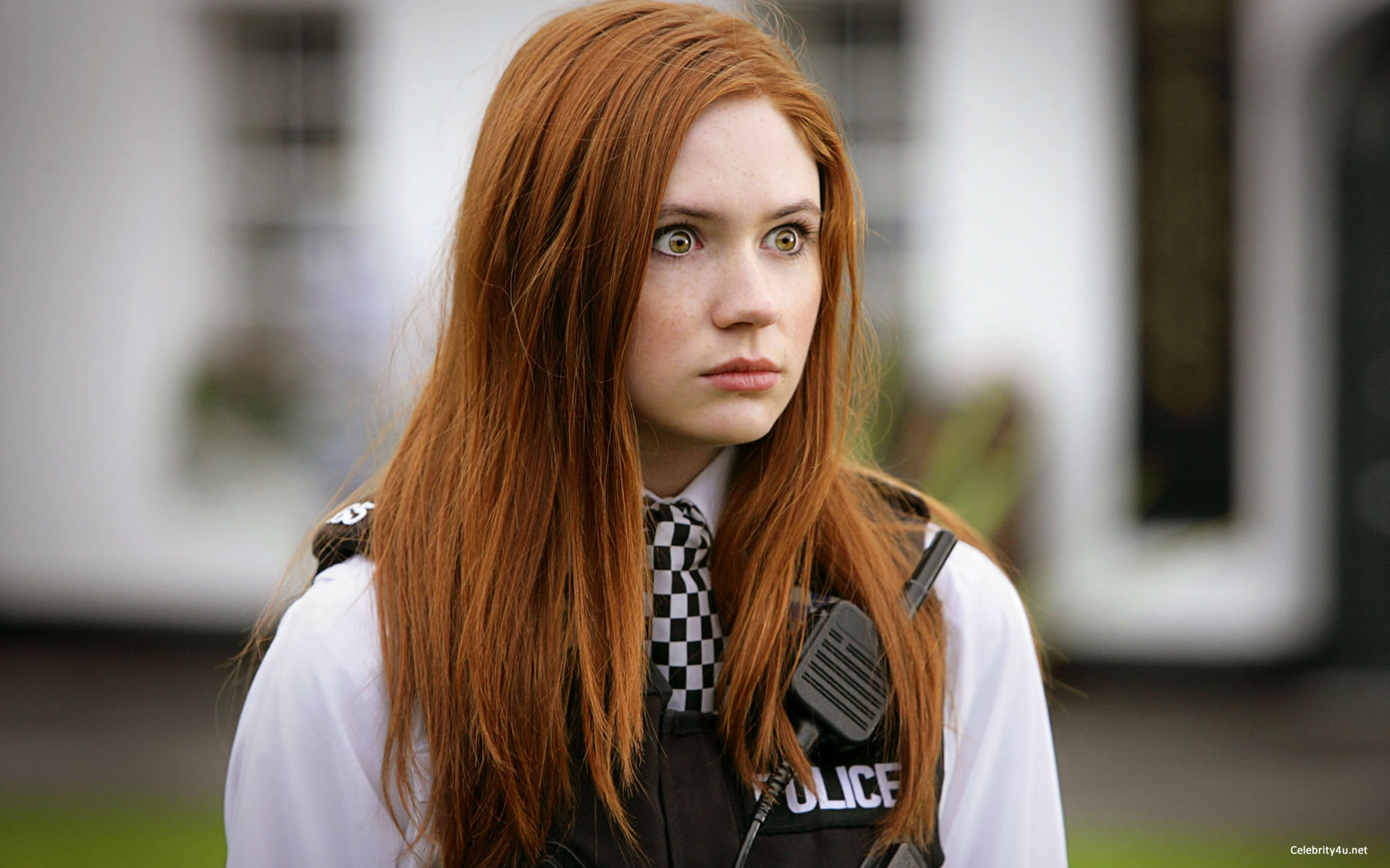"Karen Gillan as ""Amy Pond"" in Doctor Who - Courtesy BBCAmerica.com"