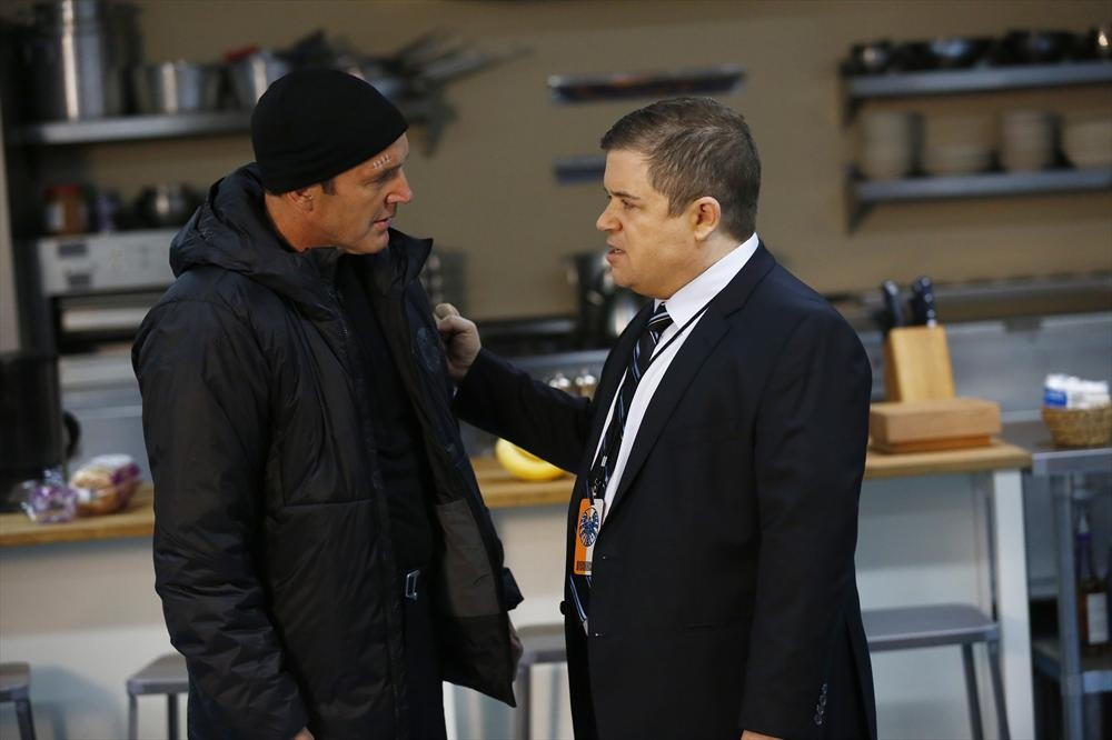 Agent Coulson (Clark Gregg) and Agent Koenig (Patton Oswalt) meet in Marvel's Agents of S.H.I.E.L.D. (Photo Courtesy ABC)